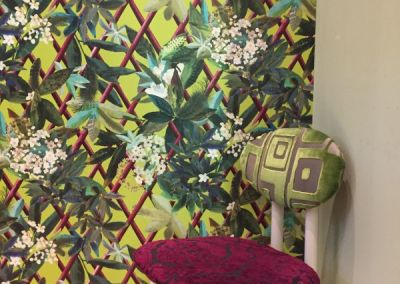 Tapete von Designers Guild in der Küche und Anna von Mangoldt Farbe