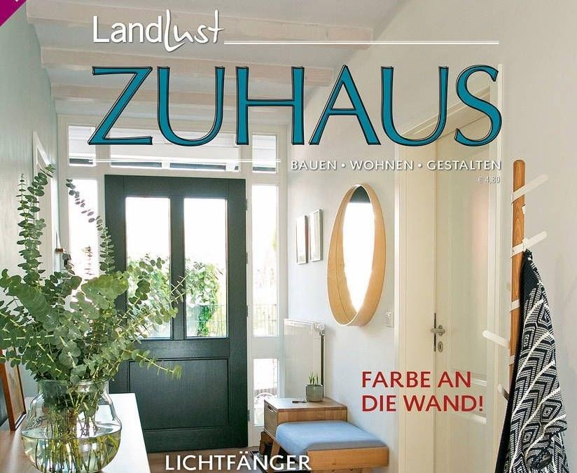 """Beitrag in dem Magazin Landlust Zuhaus """"Farbig gestalten"""""""