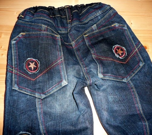recycle-style, alte Jeans neu vernähen, farbenmix