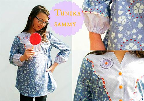 Tunika nähen nach dem Schnittmuster SAMMY von farbenmix