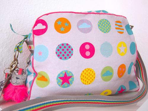Wickeltasche selber nähen Bags to love: Geometric farbenmix Designstoff