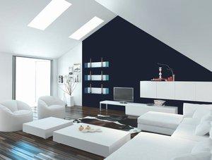 Tiefblaues Wohnzimmer. Foto: Brillux