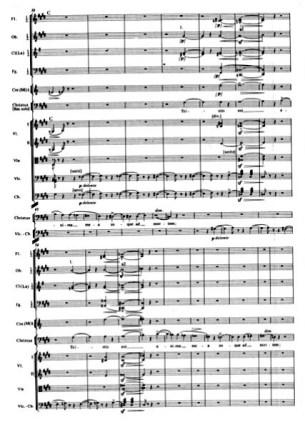 Es. 8. F. Liszt, Christus, inizio della parte terza: «Tristis est anima mea» per Baritono solo e orchestra, bb. 38-63.