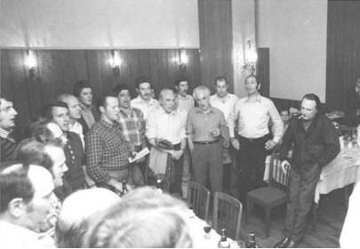 Benedetti Michelangeli durante le prove del Coro SAT