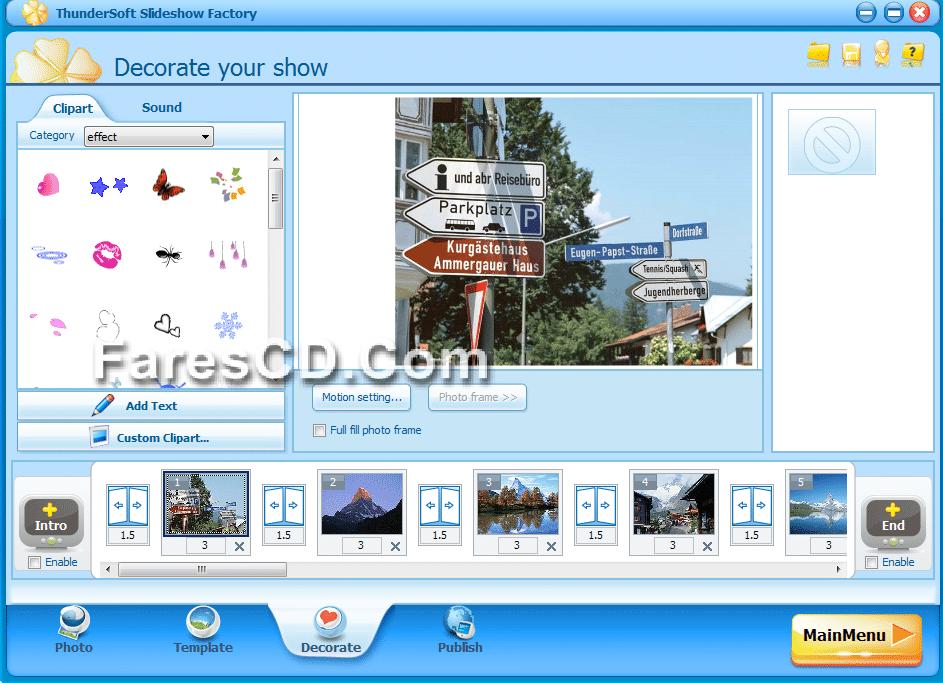 برنامج عمل سلايد شو وألبومات من الصور ThunderSoft Slideshow Factory 3.5.4.0 + Template pack (5)