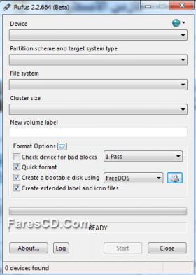 برنامج نسخ الويندوز على الفلاشة | Rufus 2.2.664 Beta portable