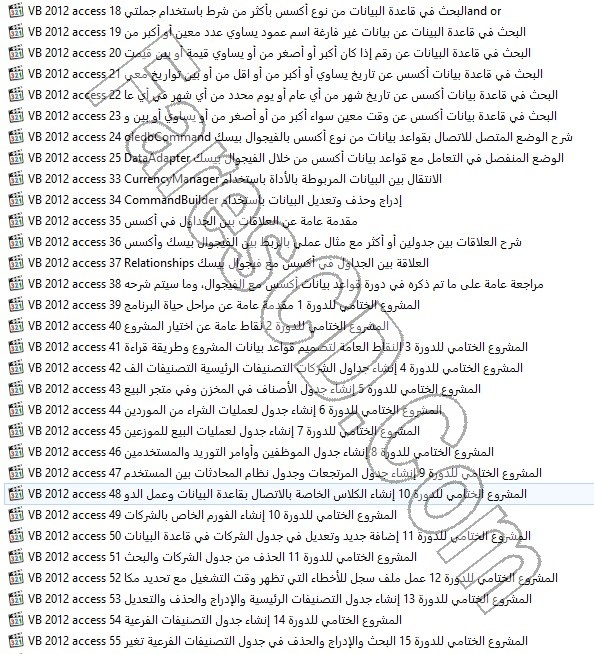 كورس فيجوال بيسك 2012 فيديو بالعربى (6)