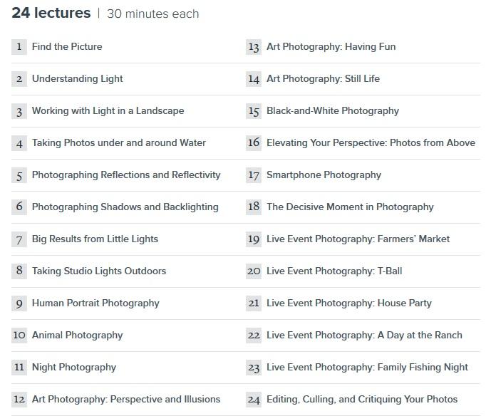 كورس إحتراف التصوير الفوتوغرافى Fundamentals of Photography II (2)
