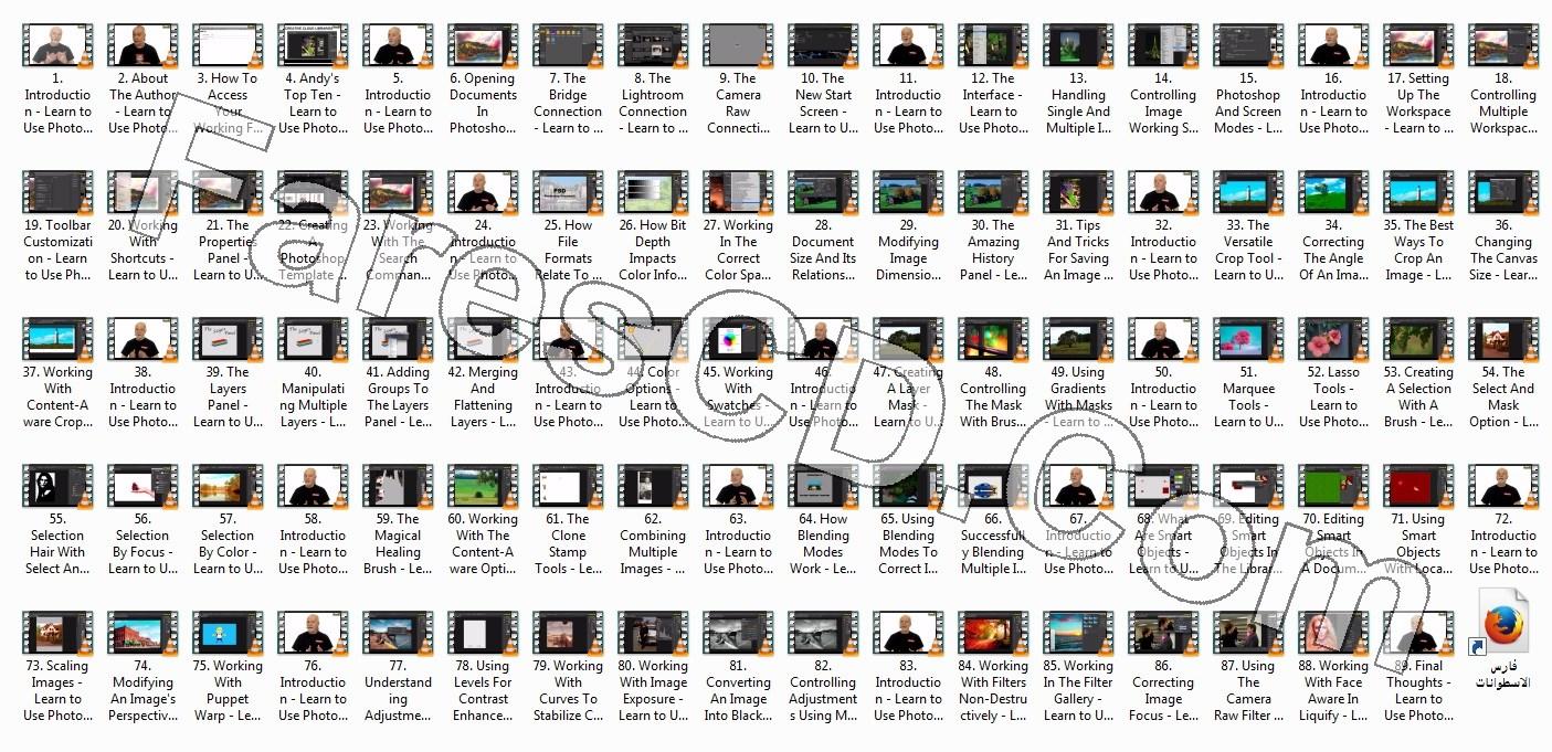 كورس فوتوشوب 2017 من إنفينتى سكيلز   O'reilly - Learn to Use Photoshop CC 2017