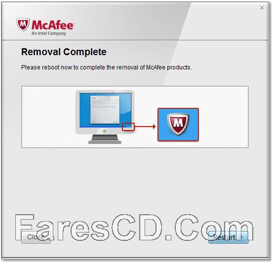 أداة حذف برنامج مكافى | McAfee Consumer Product Removal Tool 10.2.260.0