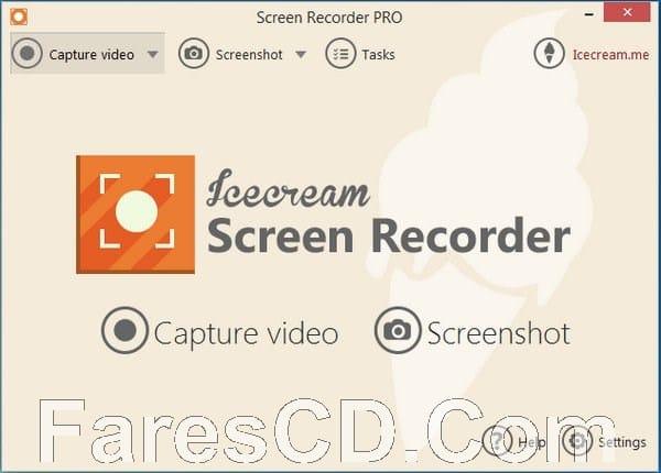 برنامج تصوير الشاشة بالفيديو والصور | IceCream Screen Recorder PRO