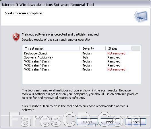 أداة ميكروسوفت لإزالة البرامج الخبيثة | Microsoft Malicious Software Removal Tool 5.55