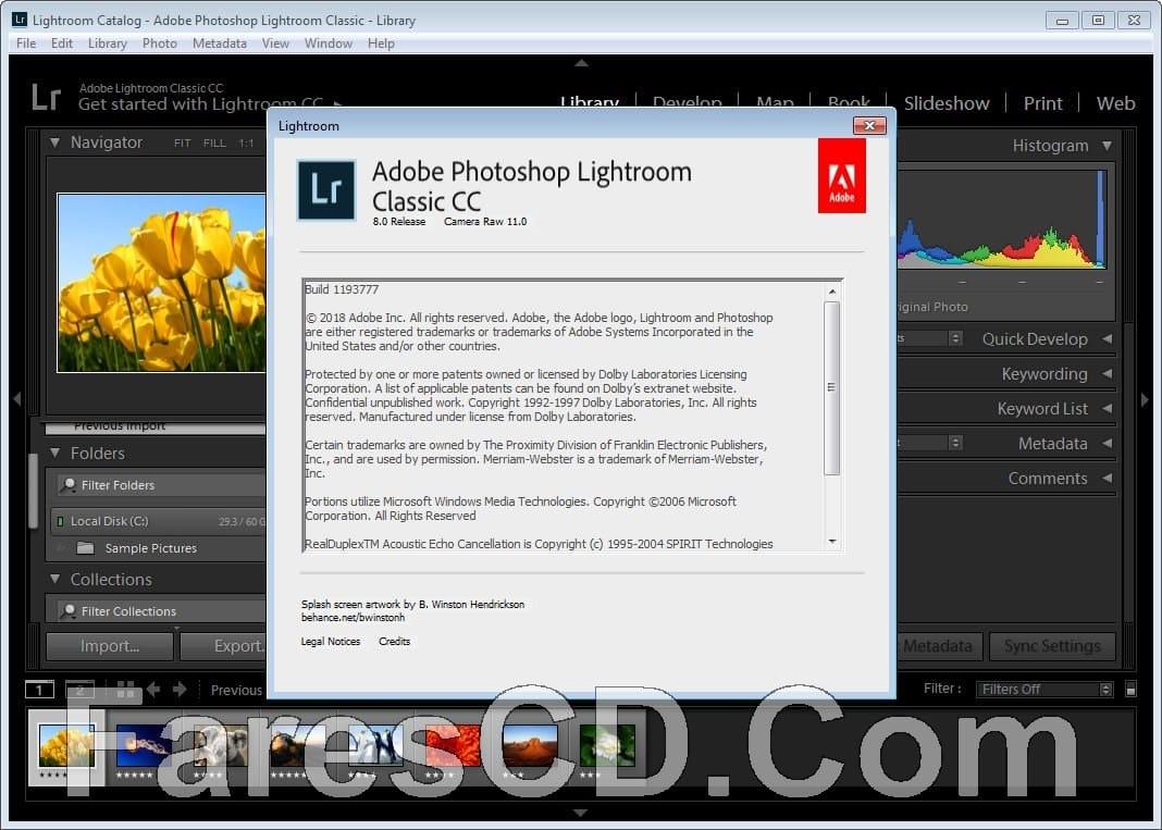 برنامج فوتوشوب لايت روم كلاسيك   Adobe Photoshop Lightroom Classic CC 2019