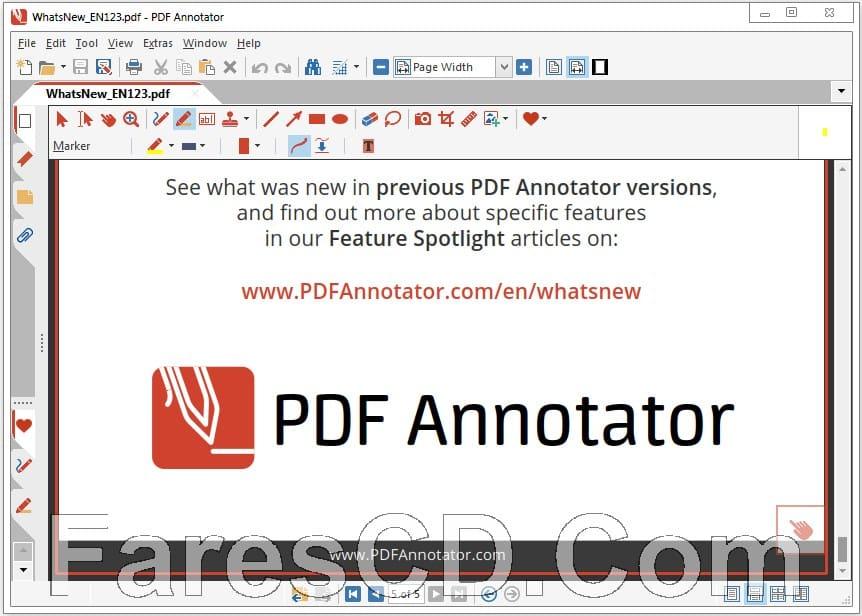 برنامج إضافة التعليقات على ملفات بى دى إف | PDF Annotator 7.1.0.714
