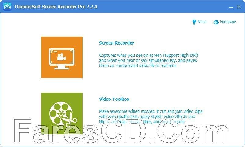 برنامج تصوير الشاشة وتحرير الفيديو   ThunderSoft Screen Recorder Pro 10.1.0