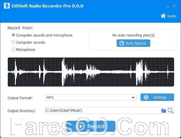 برنامج تسجيل الصوت على الكومبيوتر | GiliSoft Audio Recorder Pro 8.3.0