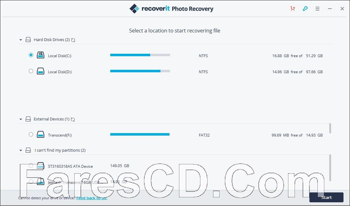 برنامج استعادة الصور والفيديوهات المحذوفة | Wondershare Recoverit Photo Recovery