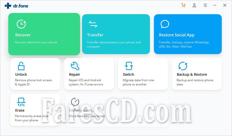 عملاق استعادة البيانات للهواتف الذكية 2020 | Wondershare Dr.Fone toolkit for Android and iOS