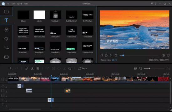 أسهل برامج مونتاج الفيديو   Apowersoft Video Editor