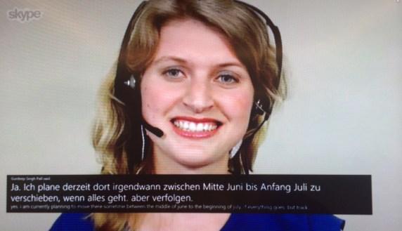 Skype Translator in azione