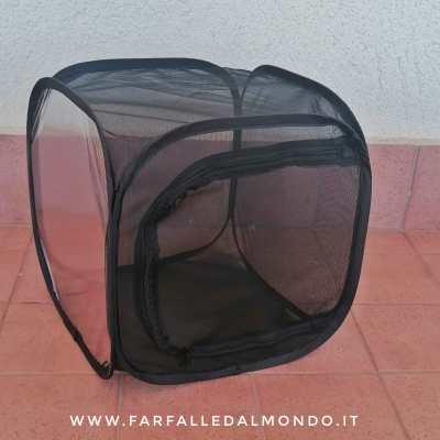 Gabbia cubica in rete nera cm 30