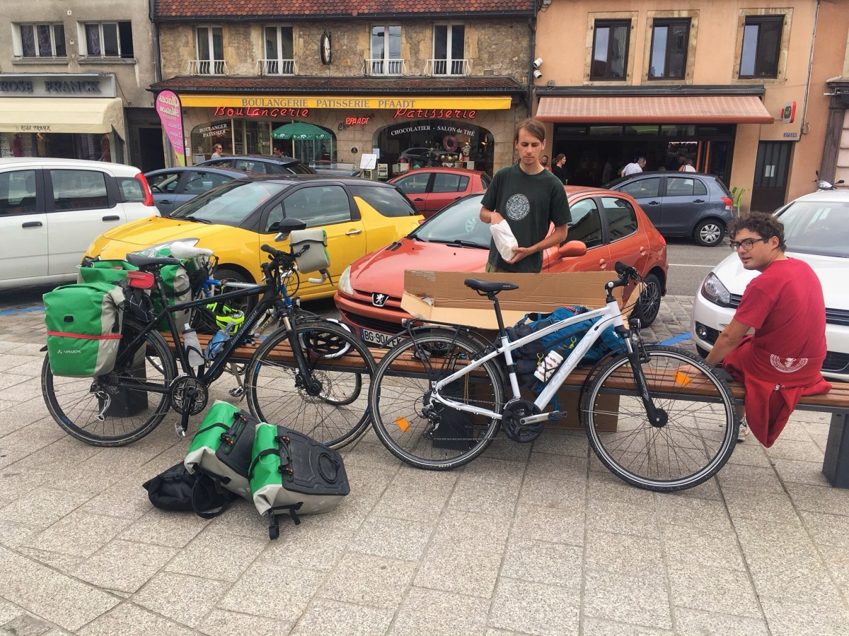 Bikes. There we were, there we are not. Pontarlier, near The Porta. Last minutes. Gallery.