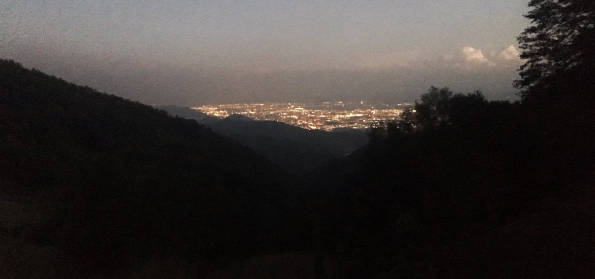 The other side of the Apennines, at night