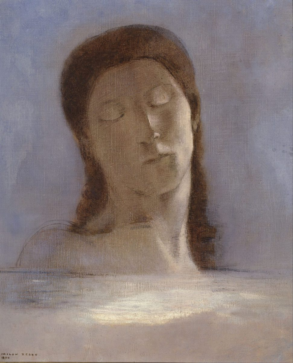 Odilon Redon: Closed Eyes, 1890