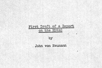 First Draft of a Report on the EDVAC - Von Neumann