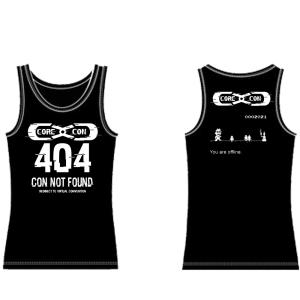 CoreCon 404 Con Not Found tank top