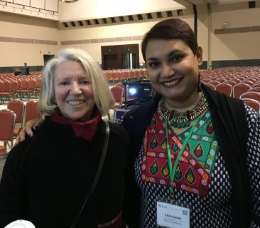 Dr. Farhana Sultana with Dr. Nancy Fraser, renowned feminist scholar, in Boston, 2017