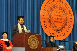 Farhana Sultana, 2012 Convocation speech at Syracuse University