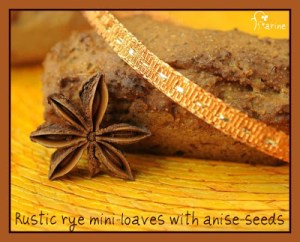 Rustic rye mini-loaves with anise seeds