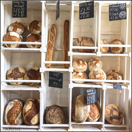 Bread display at The Bikery in London