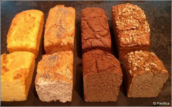 1-4 pains sans gluten - Panifica