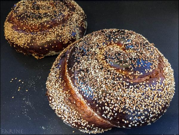 Sephardic Challah - two loaves