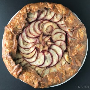 Texas pear galette - baked