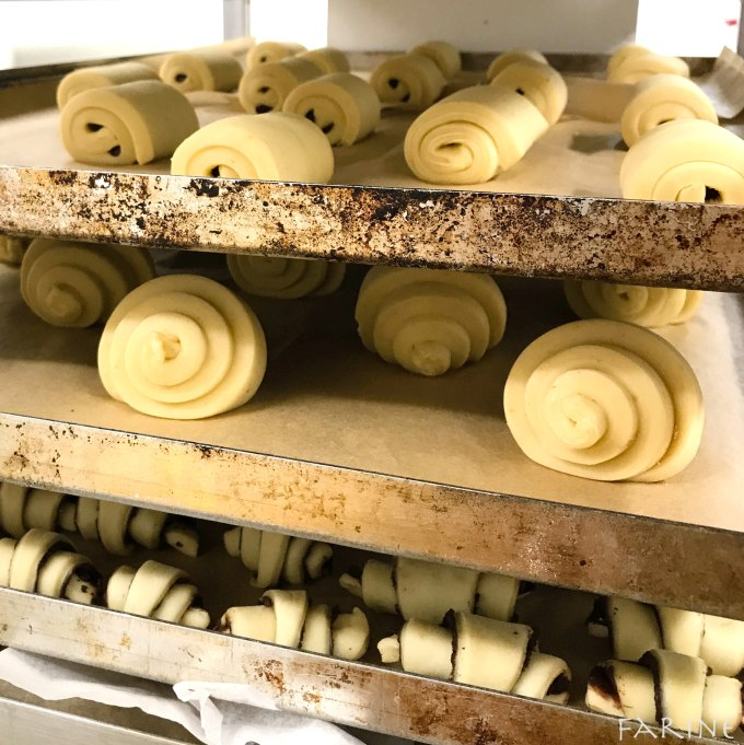 Proofing croissants at Margot Bakery