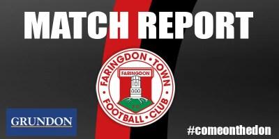 1st Team Match Report