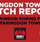 Match Report – Swindon Robins FC v Faringdon Town