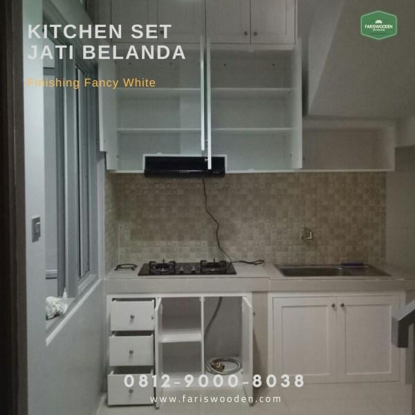 Jasa Pembuatan Kitchen Set Jati Belanda Fariswooden Pinewood