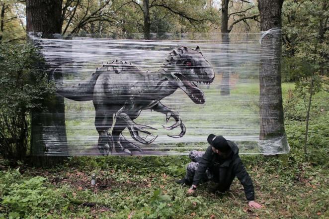 Streç Film ile Grafiti dinazor