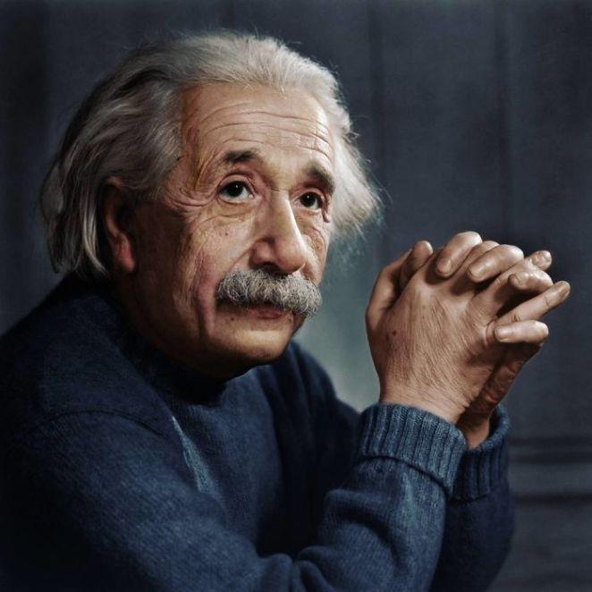 Albert Einstein Fotoğraf Renklendirme