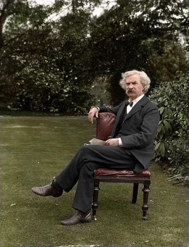 Mark Twain Fotoğraf Renklendirme