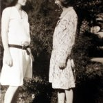 With Alice Dyar Russell, 1930