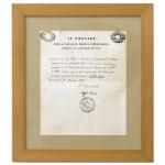Certificato di conclusione degli studi di Ercole Ferrario