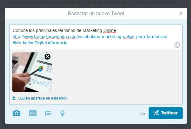 crear cuenta de twitter para una farmacia