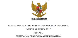 PMK No 41 2017 Perubahan Penggolongan Narkotika FarmasiAsia