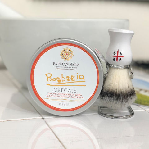 Barberia Line - Handcrafted Grecale Shaving Soap