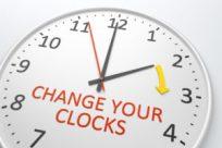 clock representing Daylight Savings Time